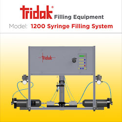 View Tridak Model 1200 Dual-Cartridge Syringe Filling System Infographic